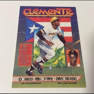 1987 Donruss Leaf Roberto Clemente puzzle